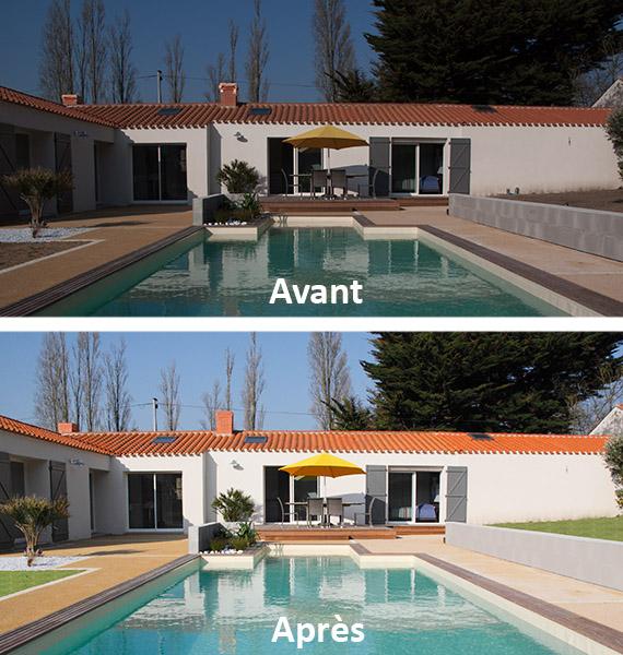 Retouches photo, avant et après.